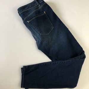 WHBM the skinny ankle Dark wash jeans 8